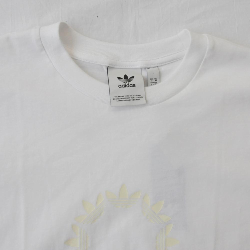ADIDAS/アディダス adidas Original SKATEBOARDING TREFOIL LOGO PIN WHEEL T-SHIRT WHITE-4