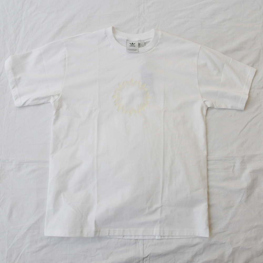 ADIDAS/アディダス adidas Original SKATEBOARDING TREFOIL LOGO PIN WHEEL T-SHIRT WHITE