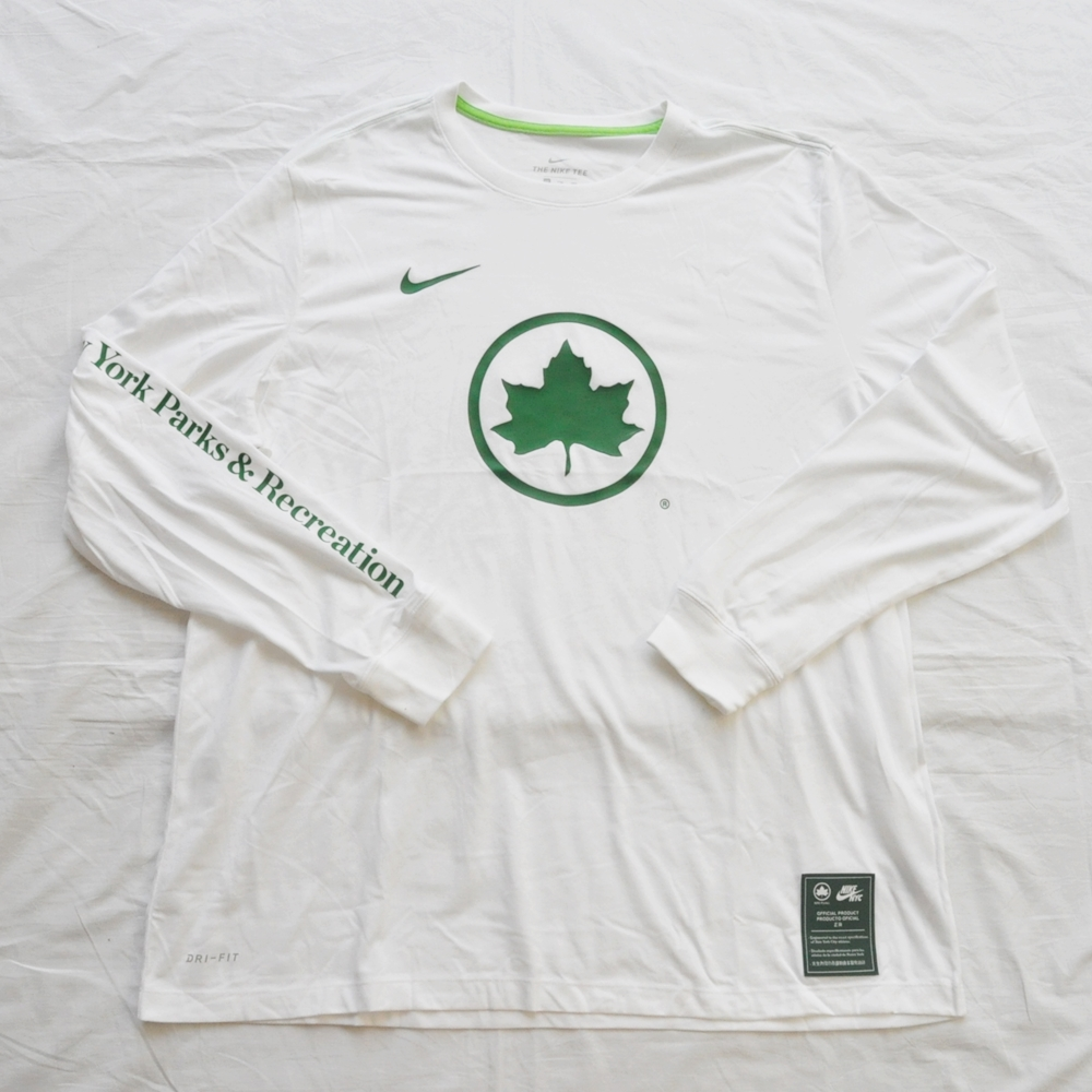 NIKE/ナイキ NYC PARKS×NIKE LONG SLEEVE T-SHIRT WHITE NYC LIMITED BIG SIZE