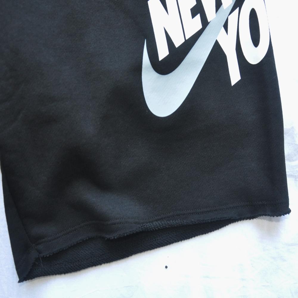 NIKE/ナイキ NIKE SPORTS WEAR NEW YORK LOOSE FIT SWEAT SHORTS BLACK NYC LIMITED-6
