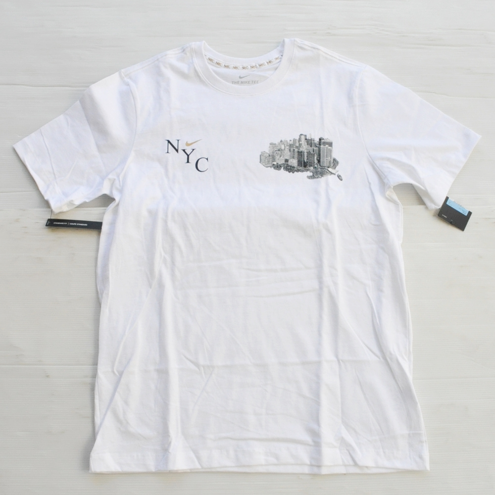 NIKE/ナイキ NIKE SPORTS WEAR 5 BOROUGH NY CITY T-SHIRT WHITE NYC LIMITED M~XL