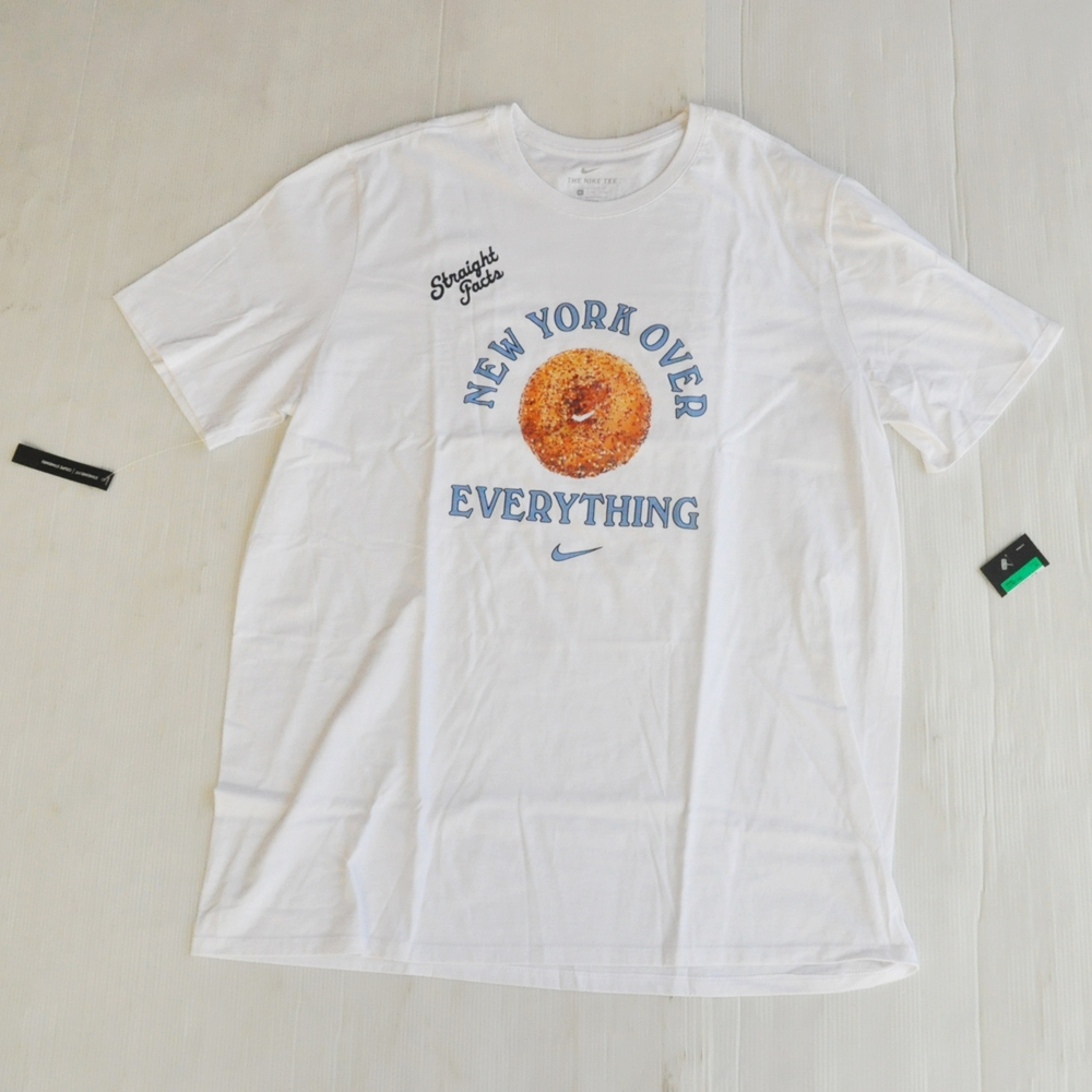 NIKE/ナイキ NEW YORK OVER EVERY THING  T-SHIRT WHITE NYC LIMITED BIG SIZE