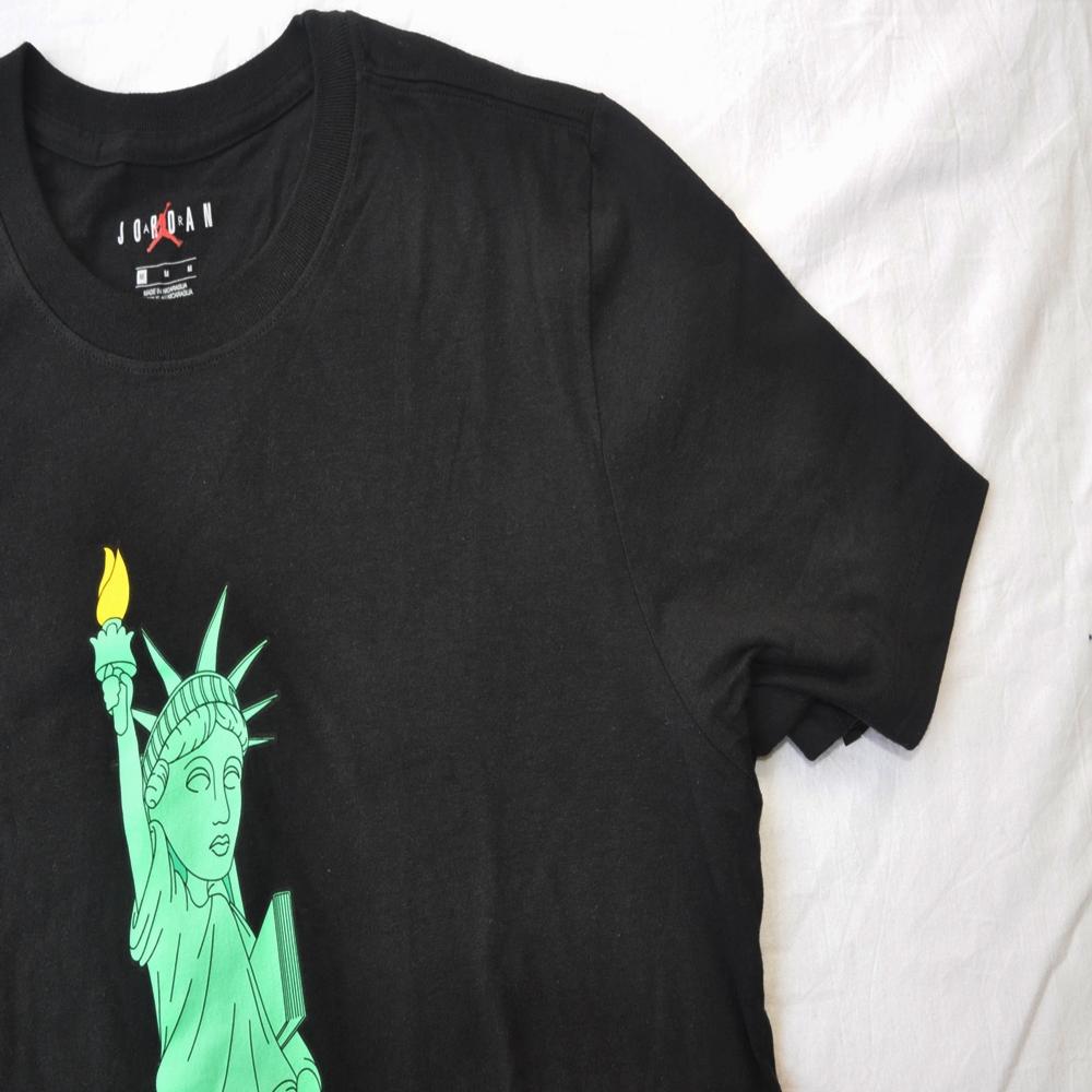 NIKE/ナイキ AIR JORDAN STATUE OF LIBERTY CHARACTER NEW YORK CITY T-SHIRT BLACK S~XXL-5