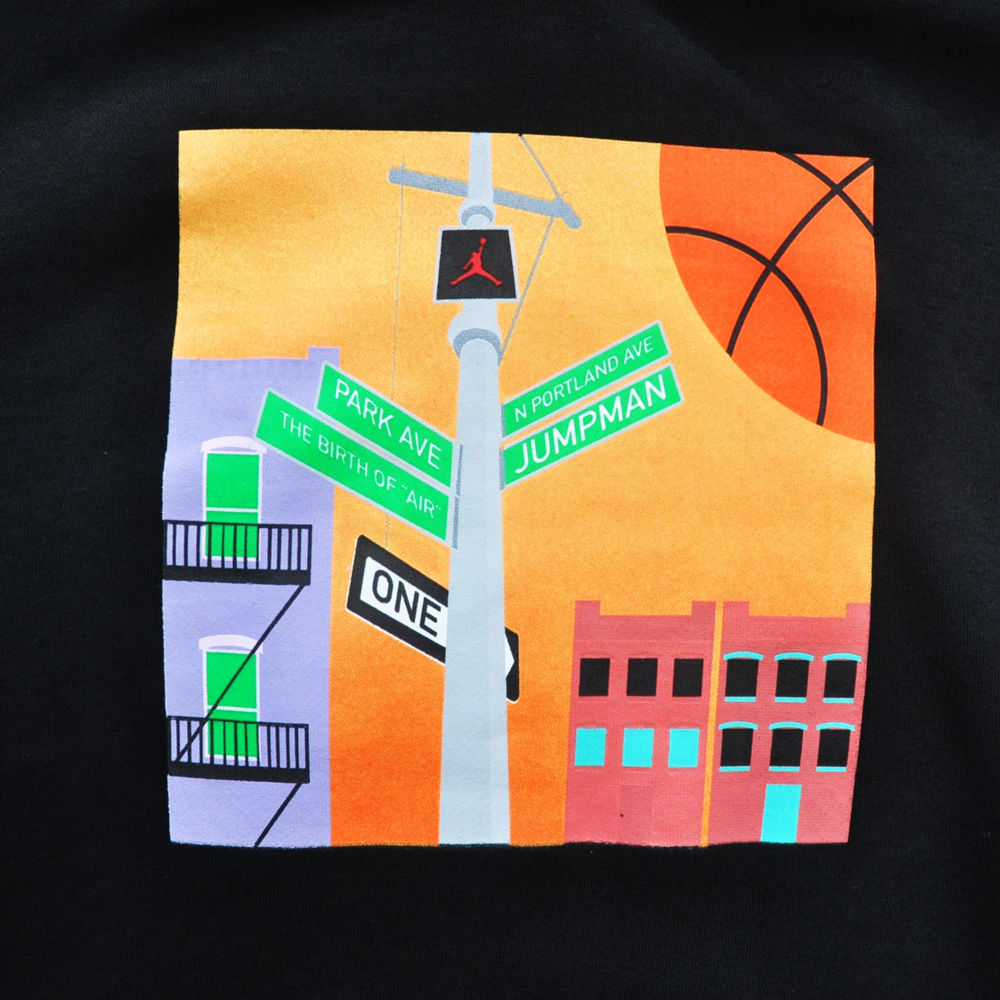 NIKE/ナイキ AIR JORDAN STREET PHOTO BOX LOGO HOODIE 海外モデル-4