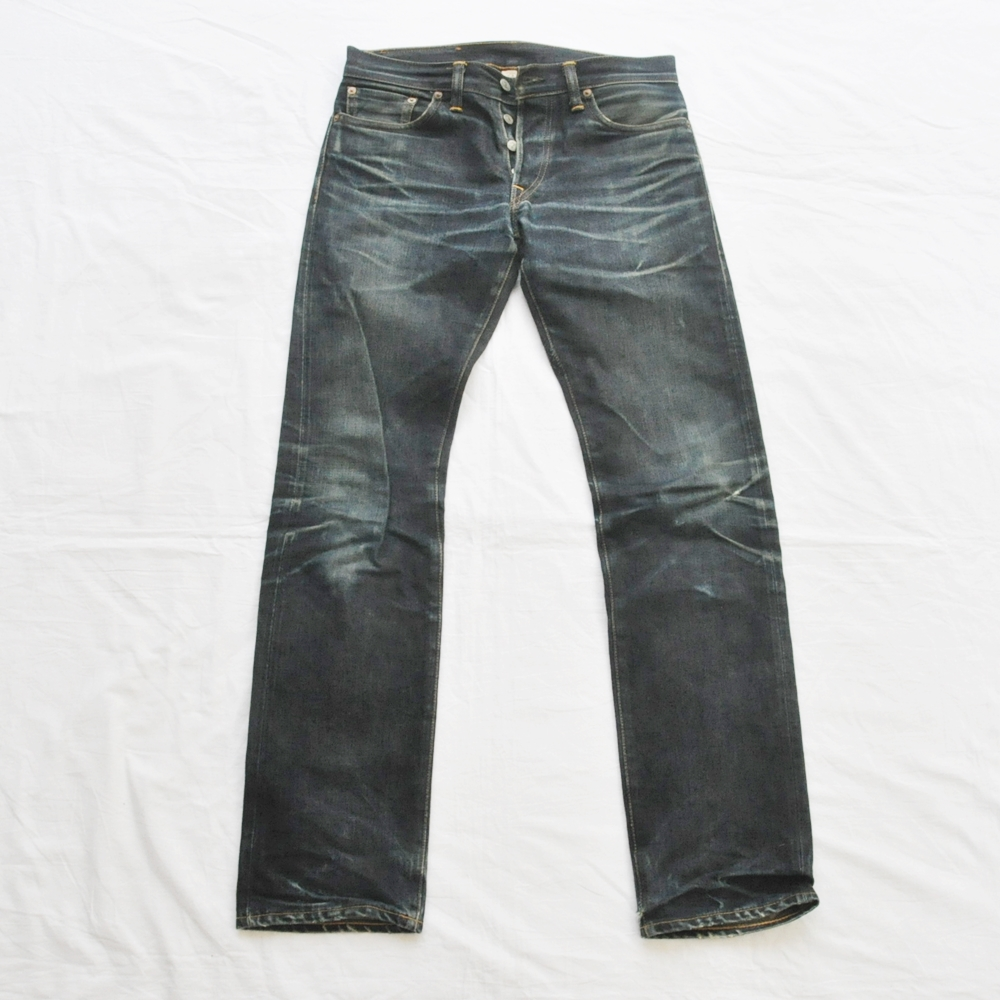 RRL/ダブルアールエル LOW STRAIGHT DENIM PANTS JAPAN WOVEN SELVEDGE DENIM USED