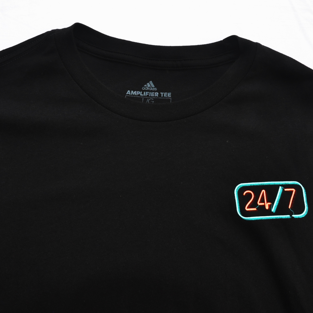 ADIDAS/アディダス EQUIPMENT LOGO 24/7 NEON LONG SLEEVE T-SHIRT BLACK-4