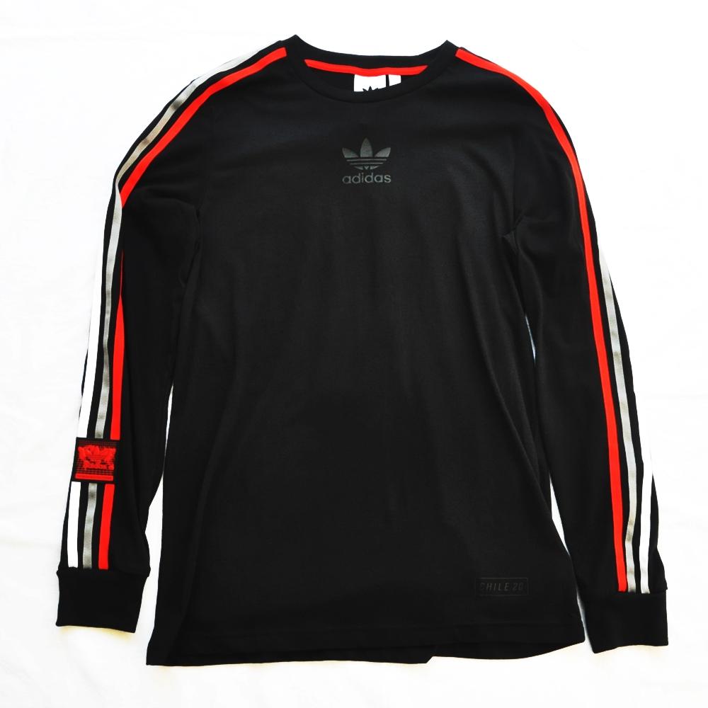 ADIDAS/アディダス adidas Originals CHILE 20 LONG SLEEVE T-SHIRT BLACK
