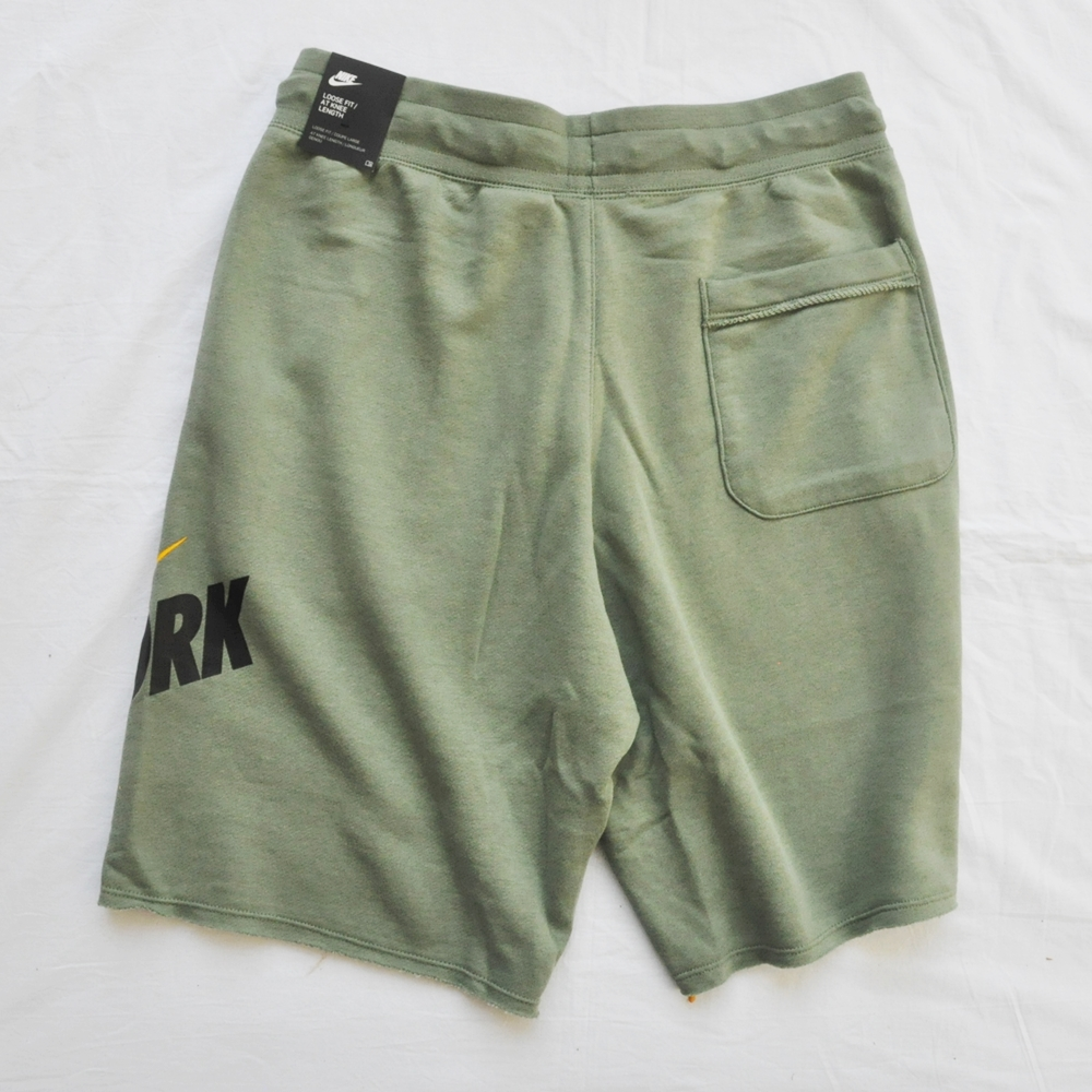 NIKE/ナイキ NIKE SPORTS WEAR NEW YORK LOOSE FIT SWEAT SHORTS OLIVE NYC LIMITED-2