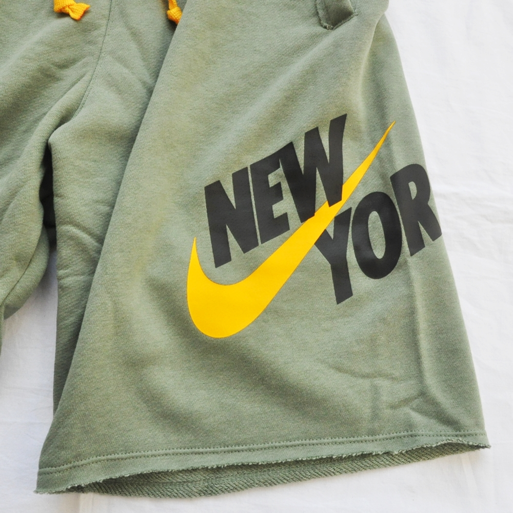 NIKE/ナイキ NIKE SPORTS WEAR NEW YORK LOOSE FIT SWEAT SHORTS OLIVE NYC LIMITED-4