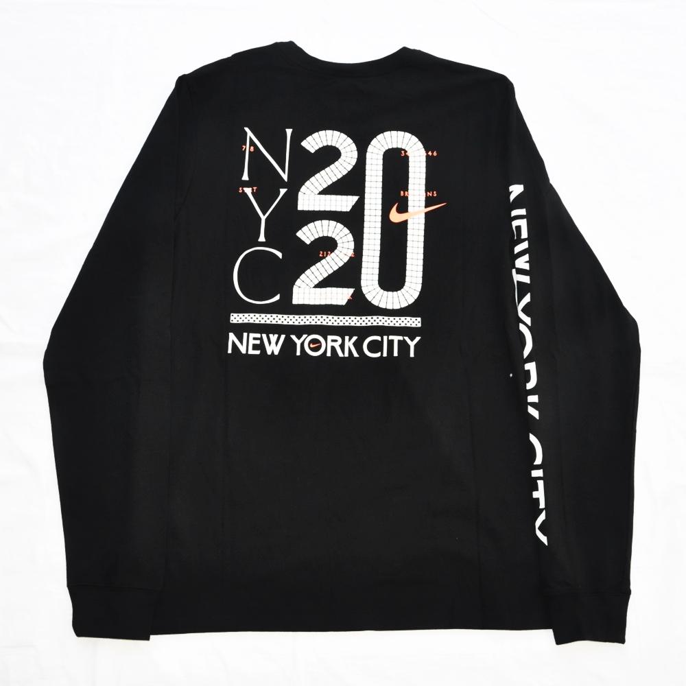 NIKE/ナイキ 5 BOROUGH NYC CITY 20 LONG SLEEVE T-SHIRT  BLACK NYC LIMITED S~XL