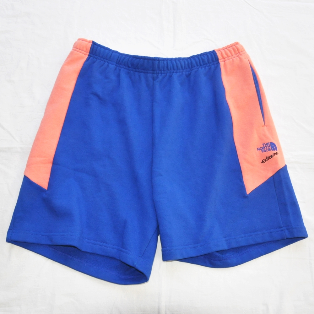 THE NORTH FACE/ザノースフェイス EXTREME BLOCK SHORTS PINK/BLUE BIG SIZE