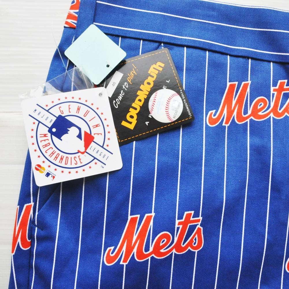 LOUD MOUTH/ラウドマウス MLB NEW YORK METS PIN STRIPE SHORTS BIG SIZE-6