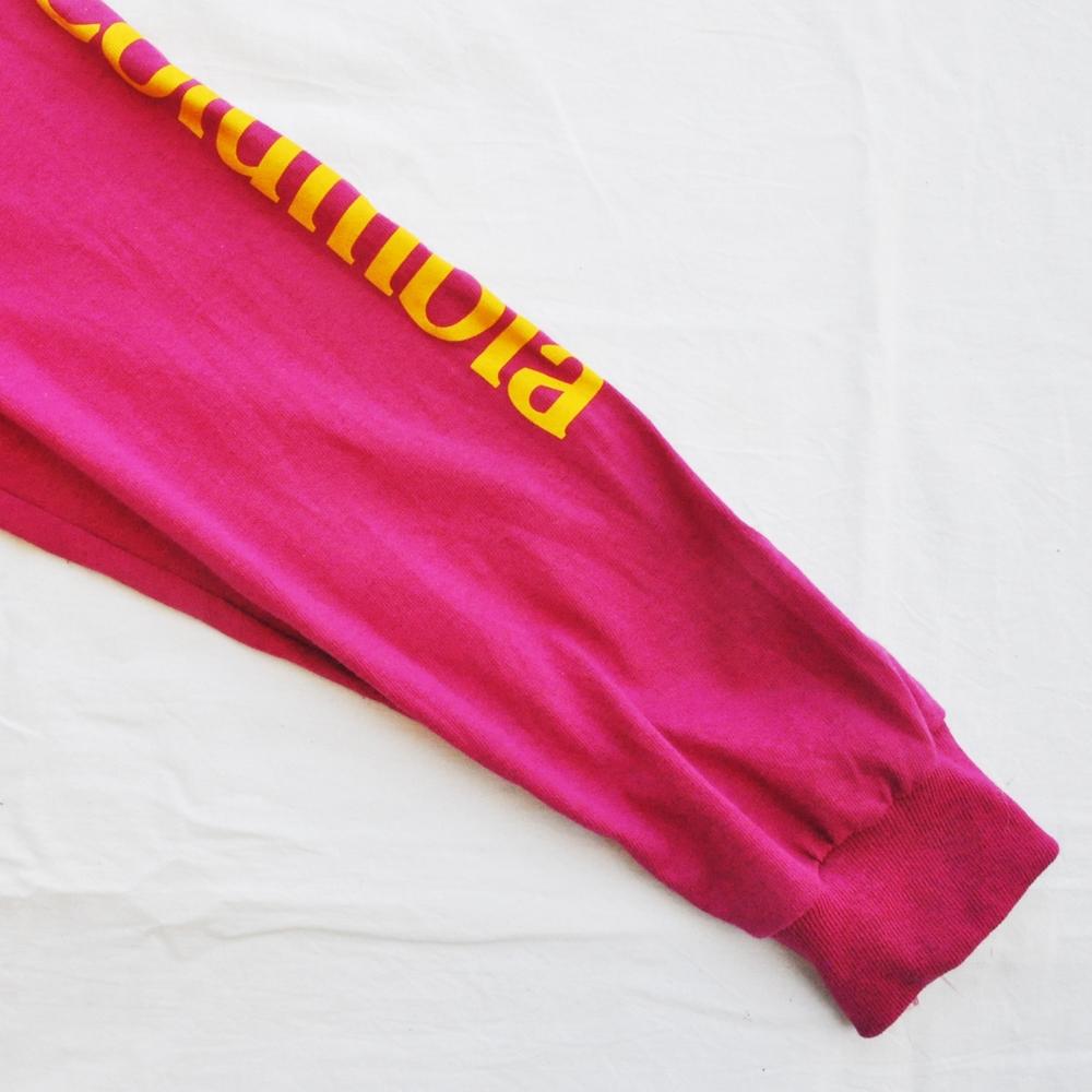 COLUMBIA/コロンビア COLUMBIA BIG LOGO LONG SLEEVE T-SHIRT VINTAGE PINK-5
