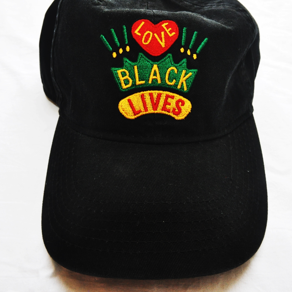 CROSS COLOURS/クロスカラーズ LOVE BLACK LIVERS 6 PANEL BASEBALL CAP BLACK-2