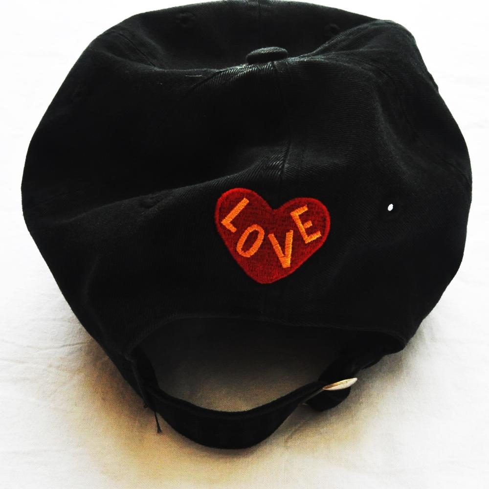CROSS COLOURS/クロスカラーズ LOVE BLACK LIVERS 6 PANEL BASEBALL CAP BLACK-5