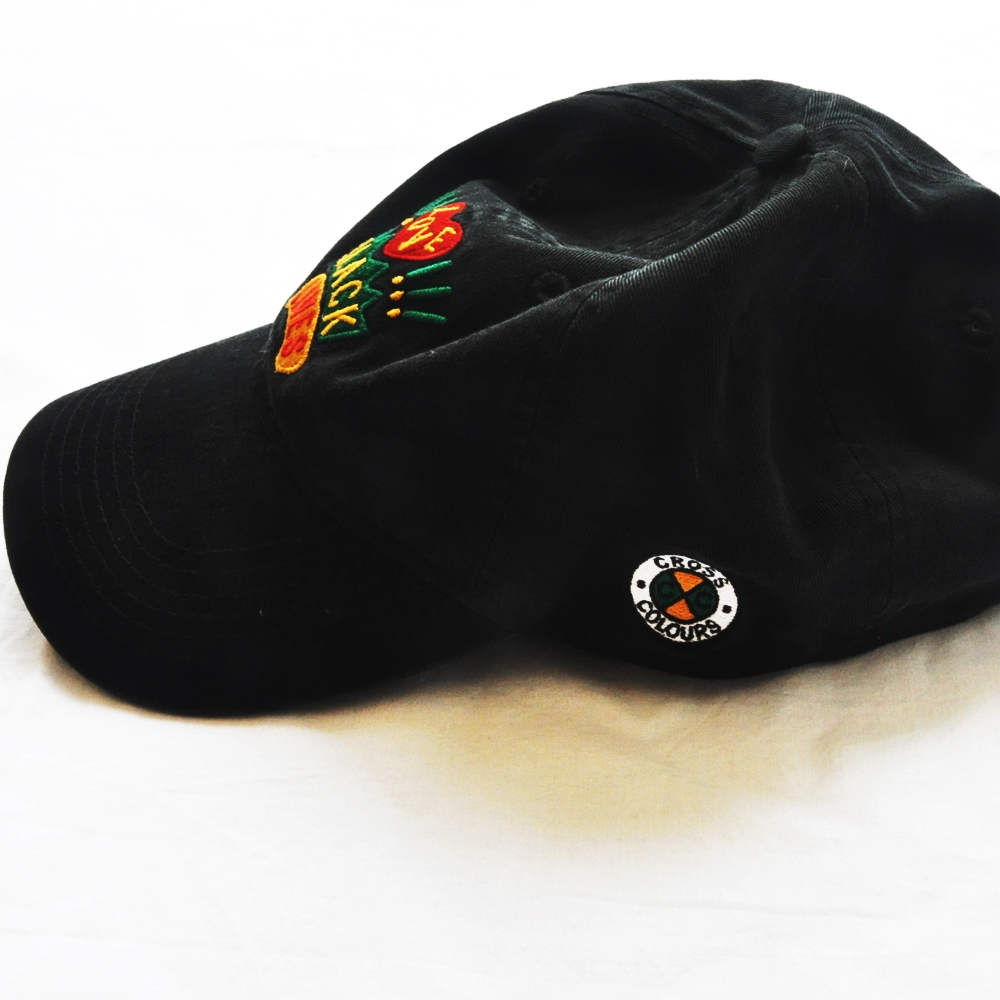 CROSS COLOURS/クロスカラーズ LOVE BLACK LIVERS 6 PANEL BASEBALL CAP BLACK-6