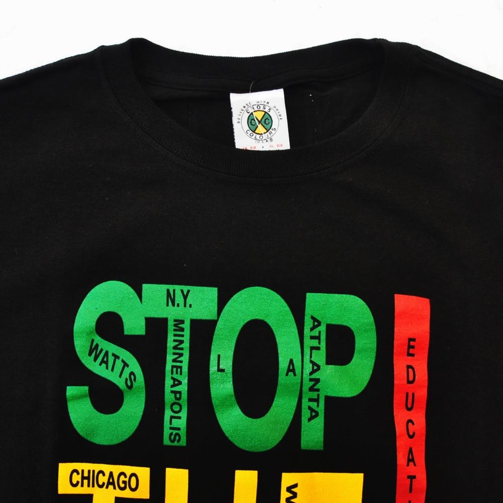 CROSS COLOURS/クロスカラーズ STOP THE VIOLENE! T-SHIRT BLACK-4