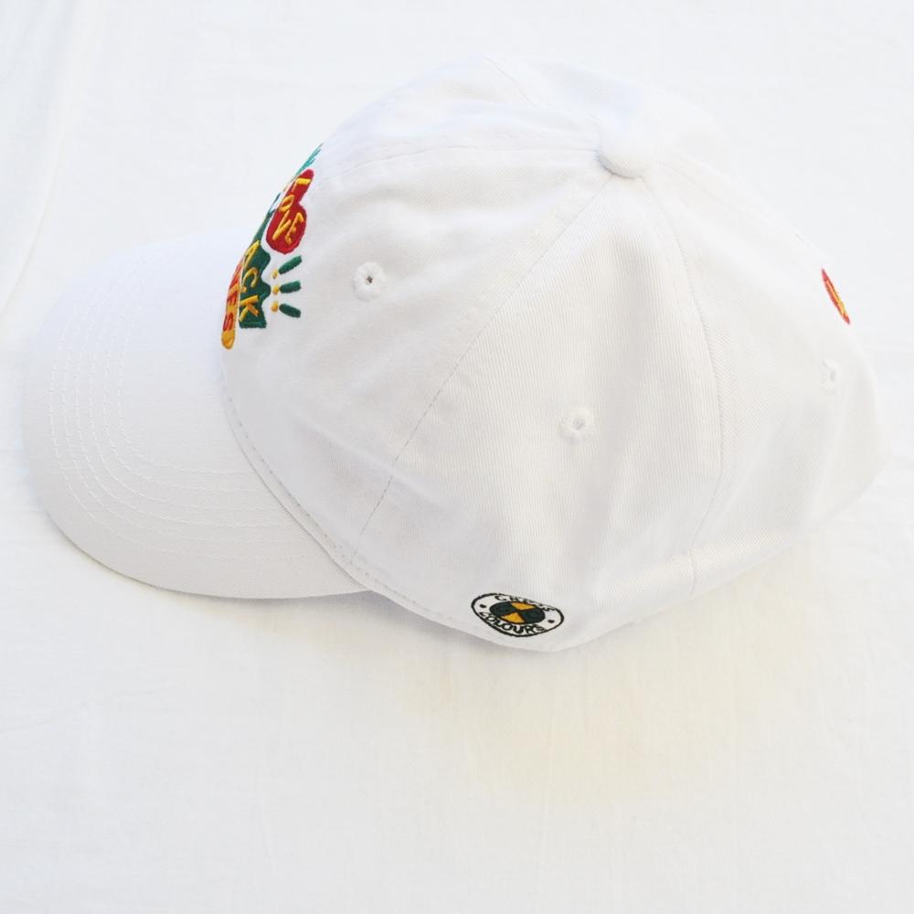 CROSS COLOURS/クロスカラーズ LOVE BLACK LIVERS 6 PANEL BASEBALL CAP WHITE-3