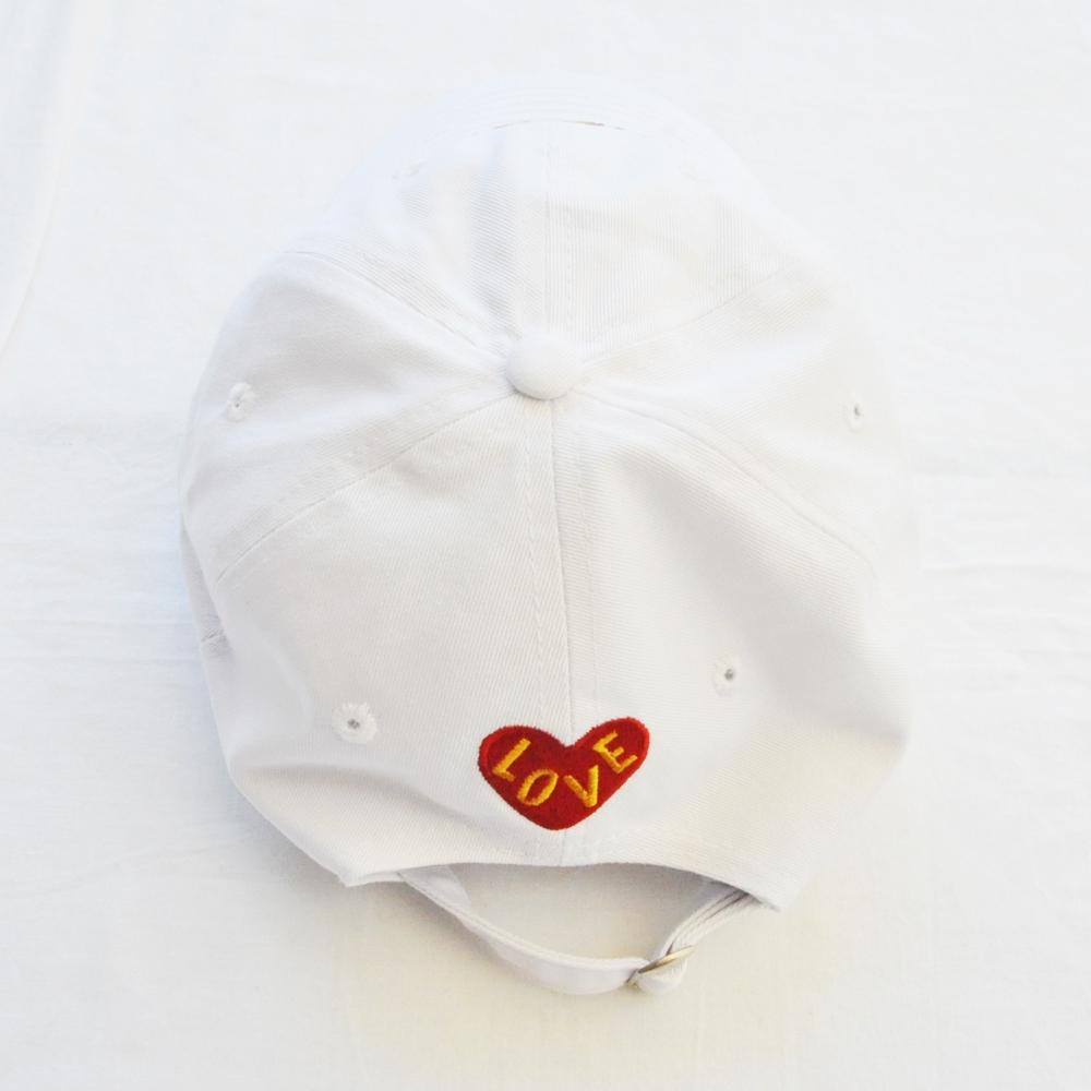 CROSS COLOURS/クロスカラーズ LOVE BLACK LIVERS 6 PANEL BASEBALL CAP WHITE-4