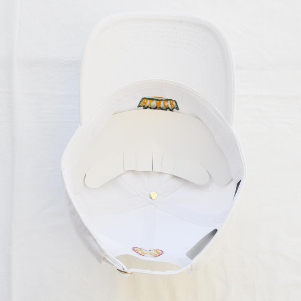 CROSS COLOURS/クロスカラーズ LOVE BLACK LIVERS 6 PANEL BASEBALL CAP WHITE-5
