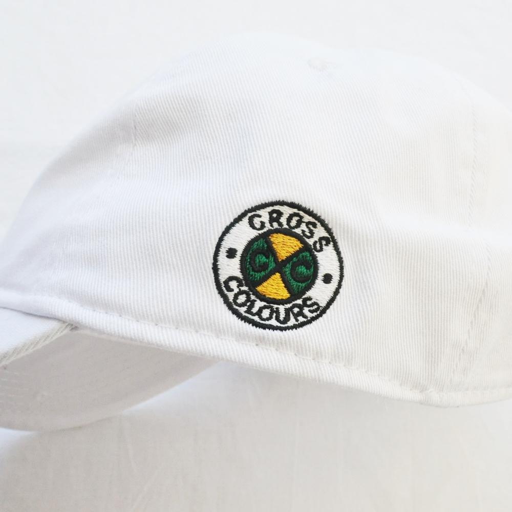 CROSS COLOURS/クロスカラーズ LOVE BLACK LIVERS 6 PANEL BASEBALL CAP WHITE-6
