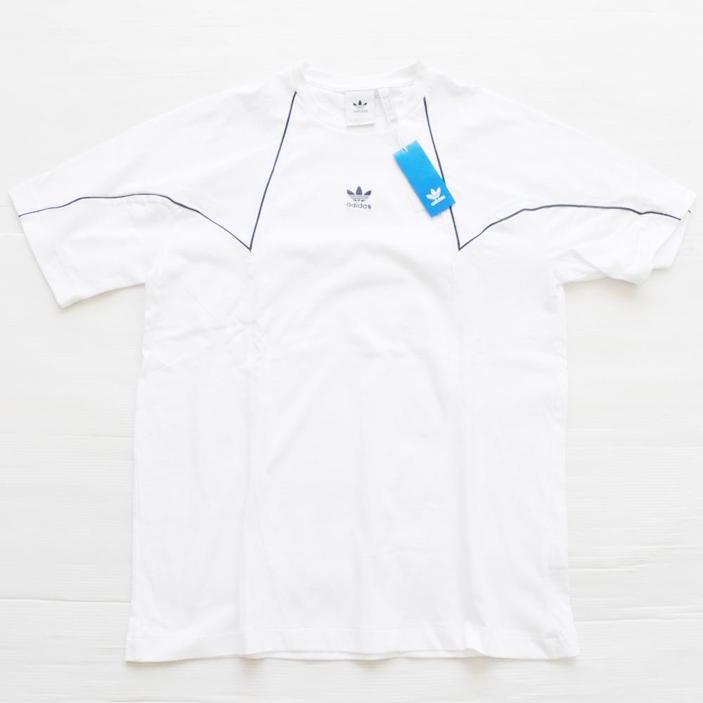 ADIDAS/アディダス BIG TREFOIL BLOCK ONE POINT LOGO T-SHIRT WHITE