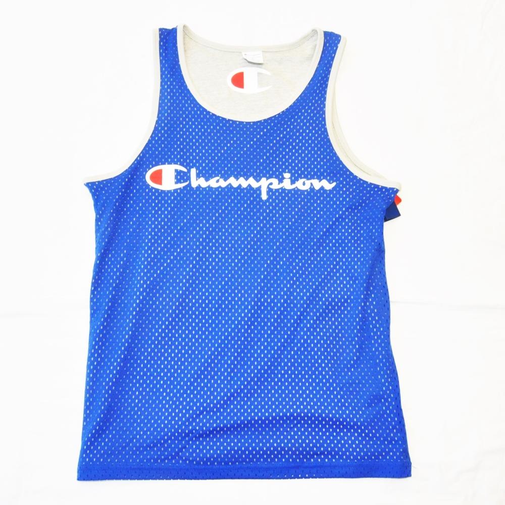 CHAMPION/チャンピオン AUTHENTIC MESH REVERSIBLE TANK TOP BLUE BIG SIZE