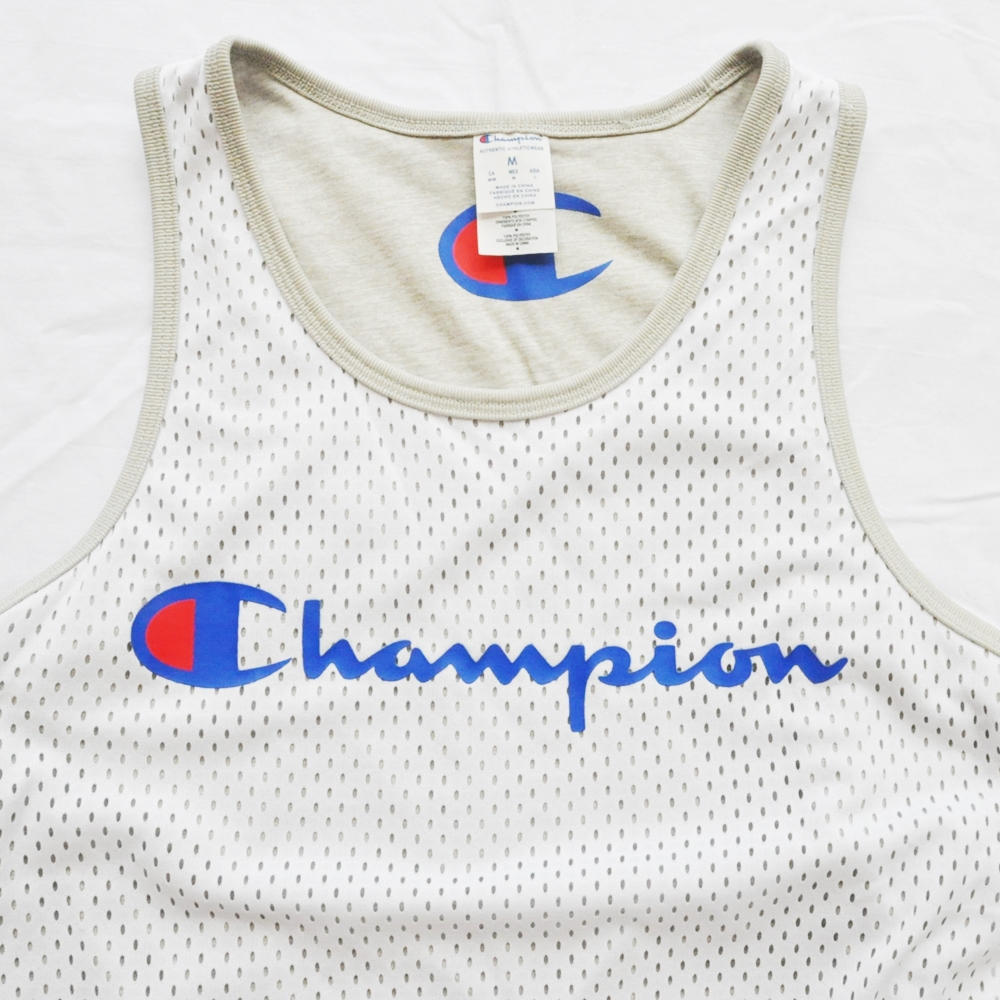 CHAMPION/チャンピオン AUTHENTIC MESH REVERSIBLE TANK TOP WHITE/GRAY-5