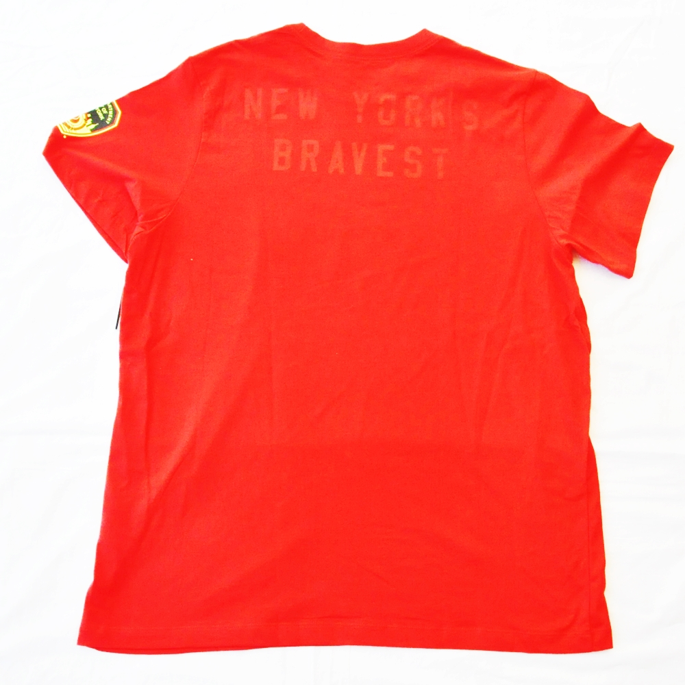 NIKE/ナイキ FIRE DEPARTMENT CITY OF NEW YORKE NIKE FDNY T-SHIRT RED NYC LIMITED BIG SIZE-2