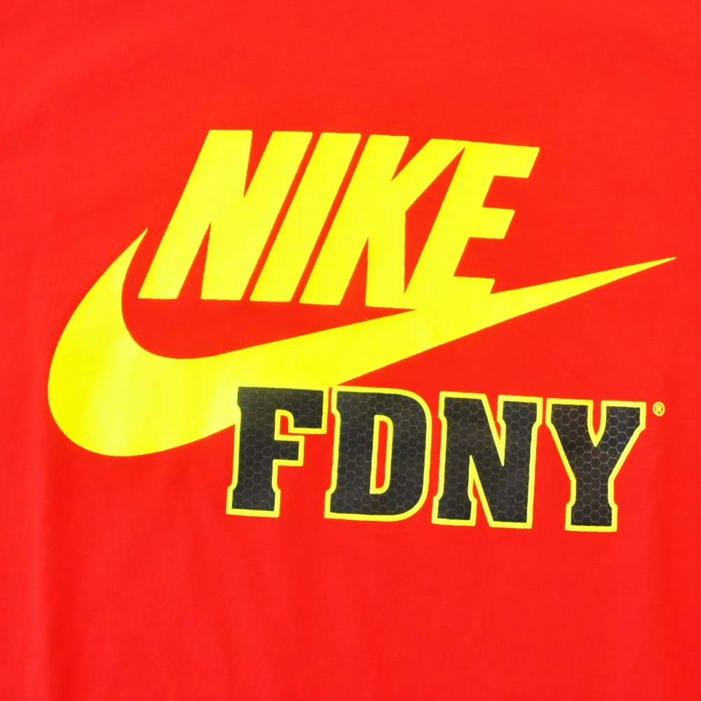 NIKE/ナイキ FIRE DEPARTMENT CITY OF NEW YORKE NIKE FDNY T-SHIRT RED NYC LIMITED BIG SIZE-3