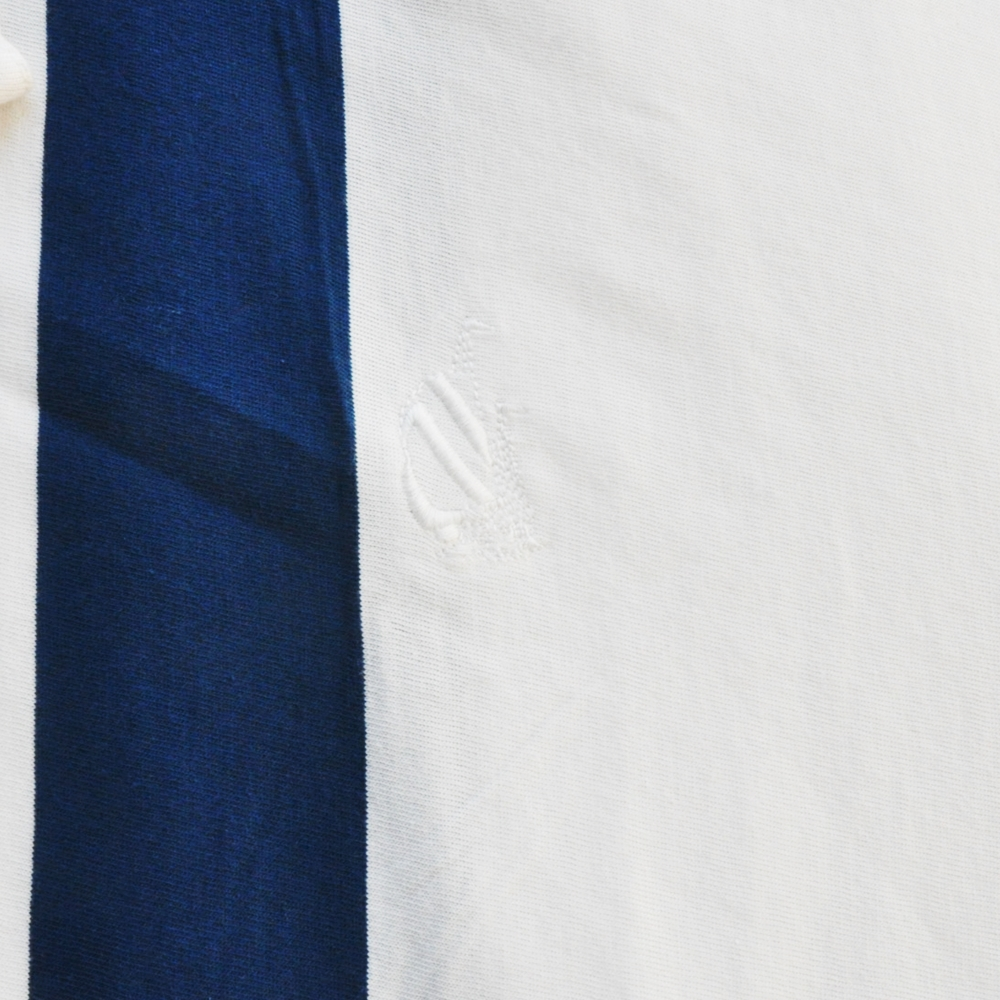 NAUTICA/ノーティカ VINTAGE FIT STRIPED PATTERN HOOD LONG SLEEVE T-SHIRT WHITE  BIG SIZE-6