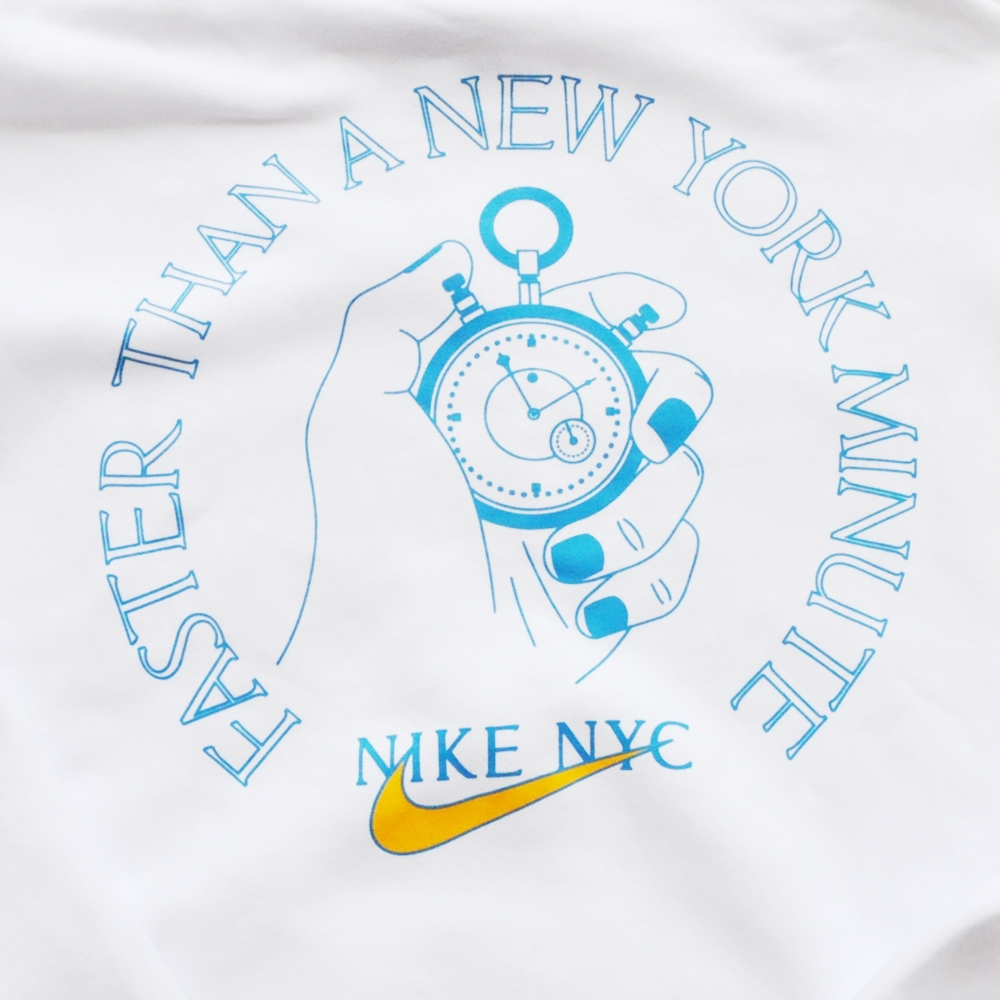 NIKE/ナイキ EVERYONE'S ALWAYS LATE FOR SOMETHING NIKE NYC PULL OVER SWEAT HOODIE WHITE NYC LIMITED-3