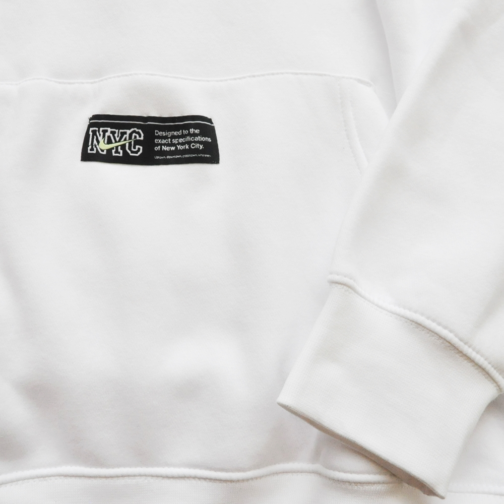 NIKE/ナイキ EVERYONE'S ALWAYS LATE FOR SOMETHING NIKE NYC PULL OVER SWEAT HOODIE WHITE NYC LIMITED-5