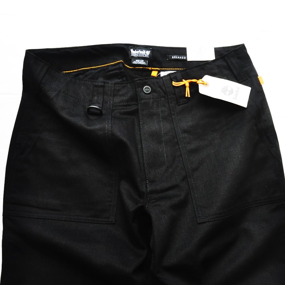 TIMBERLAND/ティンバーランド RLEAXED FIT WORK PANTS BLACK-4