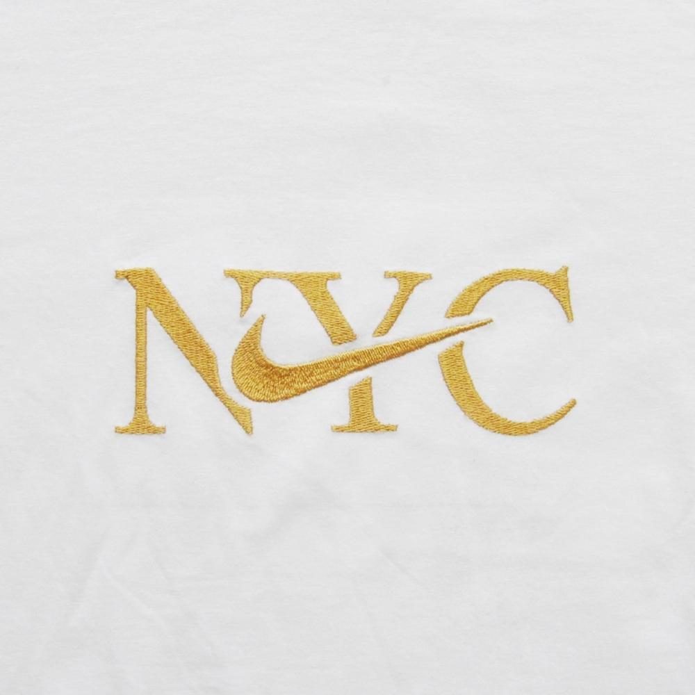 NIKE/ナイキ NIKE SPORTS WEAR 5 BOROUGH NYC LONG SLEEVE T-SHIRT WHITE NYC LIMITED BIG SIZE-3