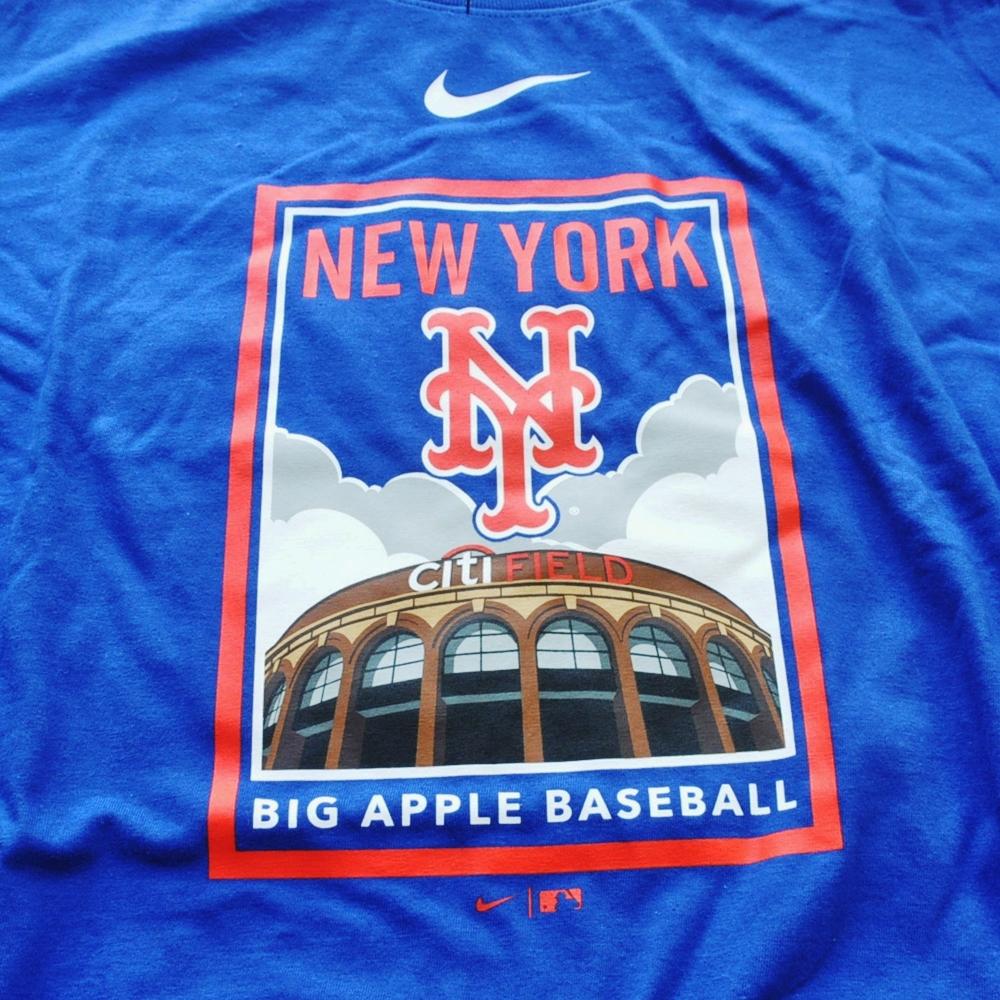 NIKE/ナイキ NEW YORK METS BIG APPLE BASEBALL LONG SLEEVE T-SHIRT BIG SIZE-3
