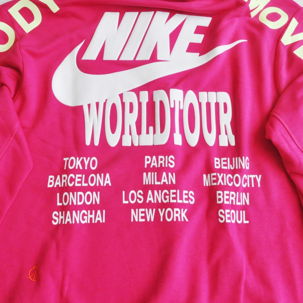 NIKE/ナイキ NIKE WORLD TOUR PULLOVER SWEAT HOODIE SHOCKING PINK-3