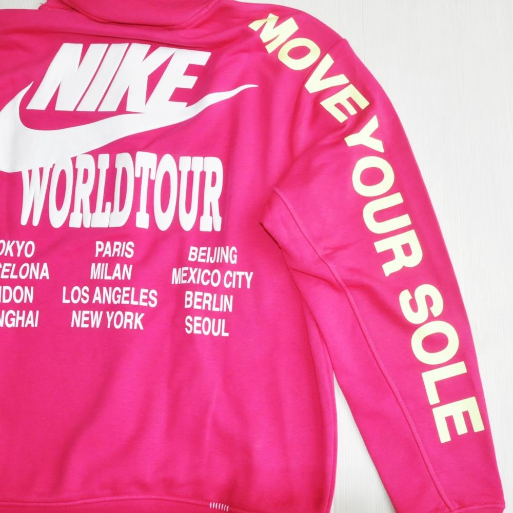 NIKE/ナイキ NIKE WORLD TOUR PULLOVER SWEAT HOODIE SHOCKING PINK-6