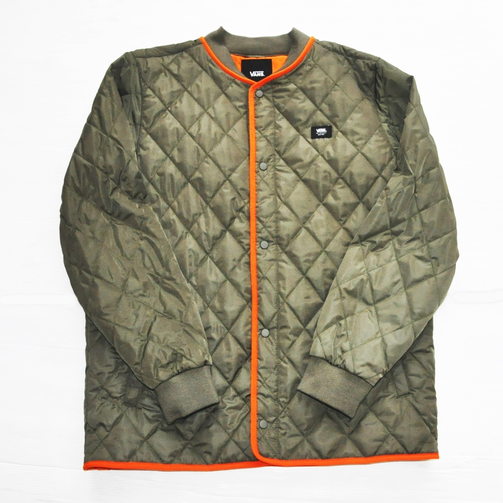 VANS / バンズ 1 POINT No collar QUILITING JACKET OLIVE XS~L
