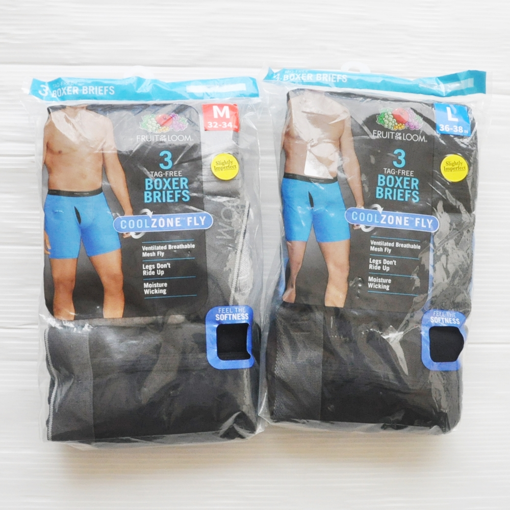 FRUIT OF THE LOOM/フルーツオブザルーム 3PACK TAG FREE BOXER BRIEFS COOL ZONE FLY