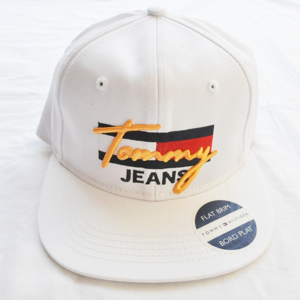 TOMMY JEANS/トミージーンズ TOMMY JEANS LOGO SNAP BACK CAP WHITE